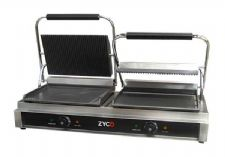 "Commercial Quality Double Contact Grill with a 12 month commercial ""on site"" Replacement Warranty"